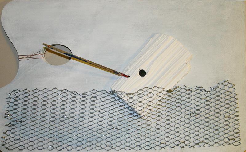 Moby Dick, or the Whale--Mixed media, 11inx18inx about 4 inches deep