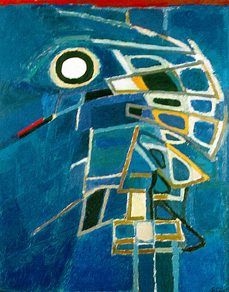 Like the Sound of Oars, 1962, Oil on canvas, 31 7/8 x 25 5/8 in. (81 x 65 cm.)