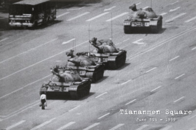 Lone Man on Tiananmen Square