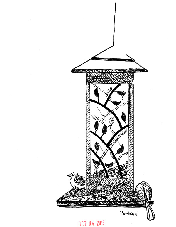 Inktober 4-Bird Feeder