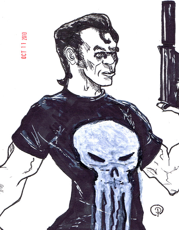 The Punisher #inktober 11 7x5.5 inches