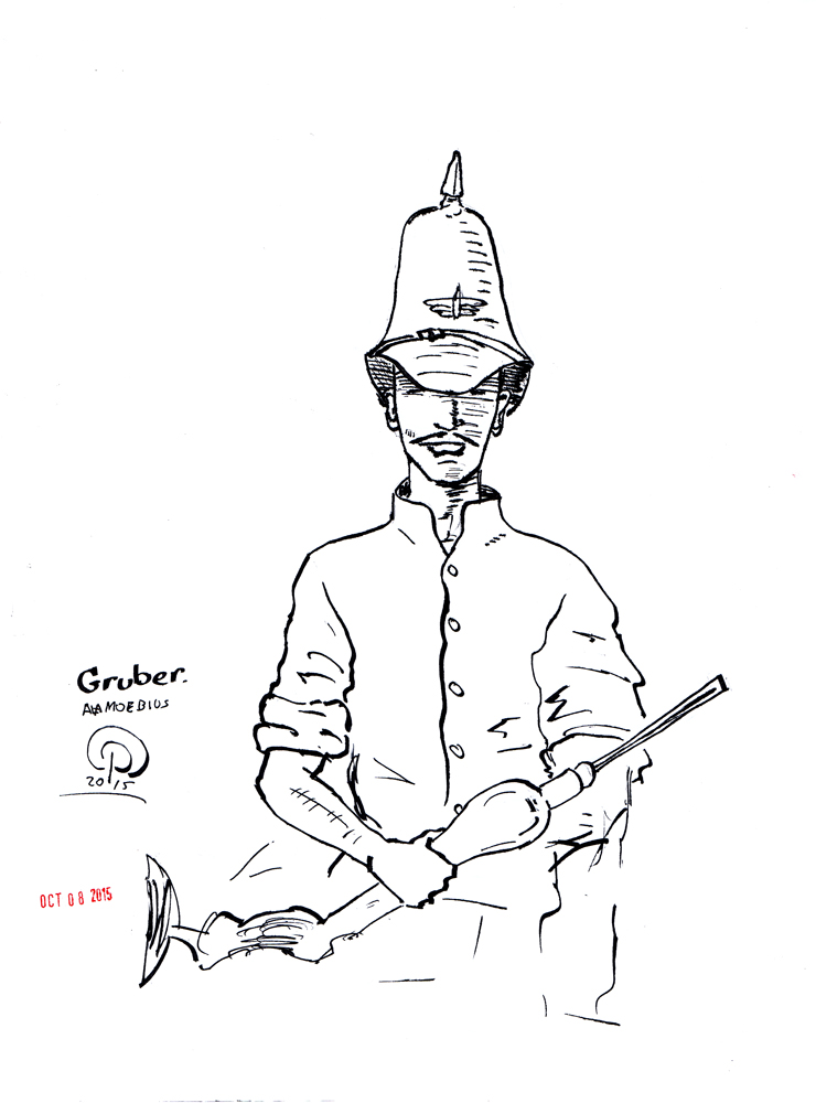 Inktober Day 8 Major Gruber