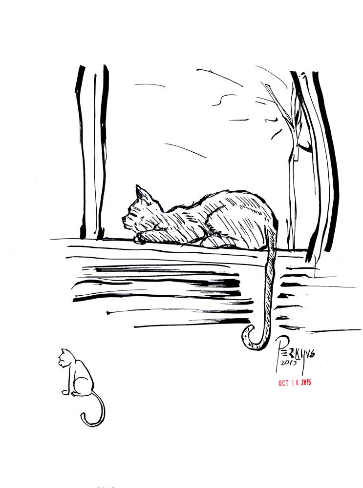 Inktober 10--Cats