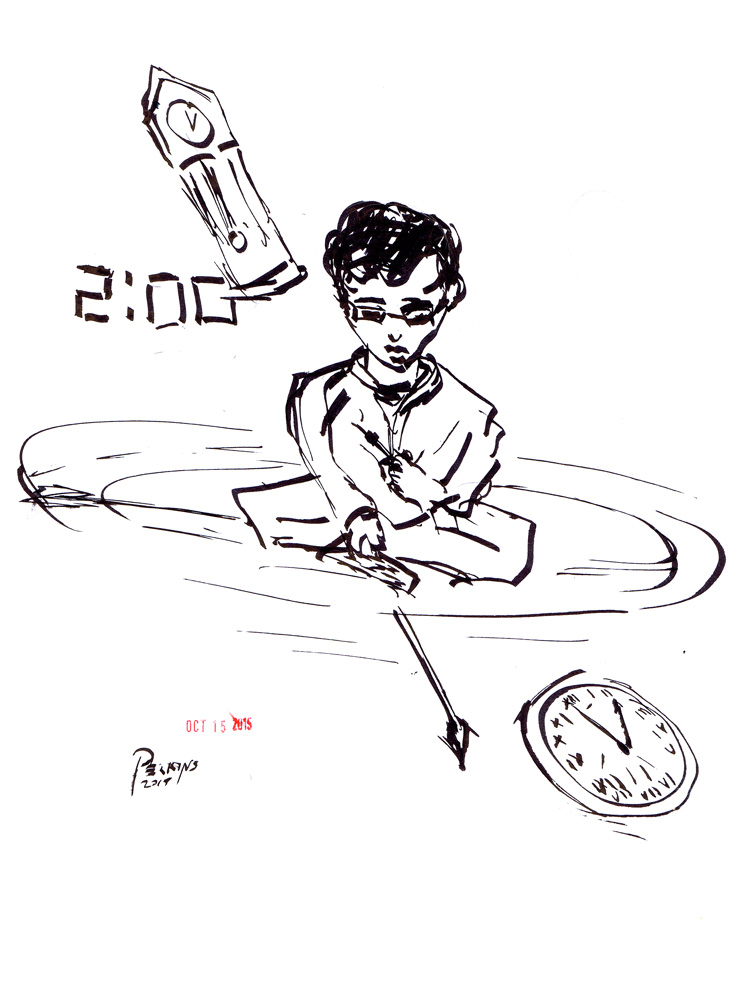 Inktober Day 15  The Clock Maker