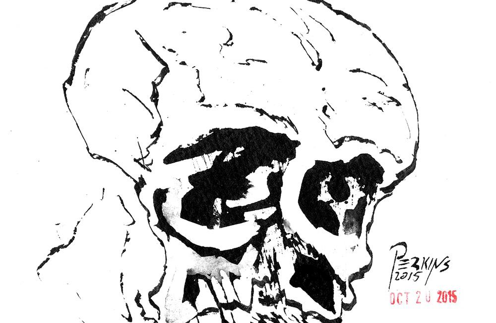 Inktober Day 20 Skull