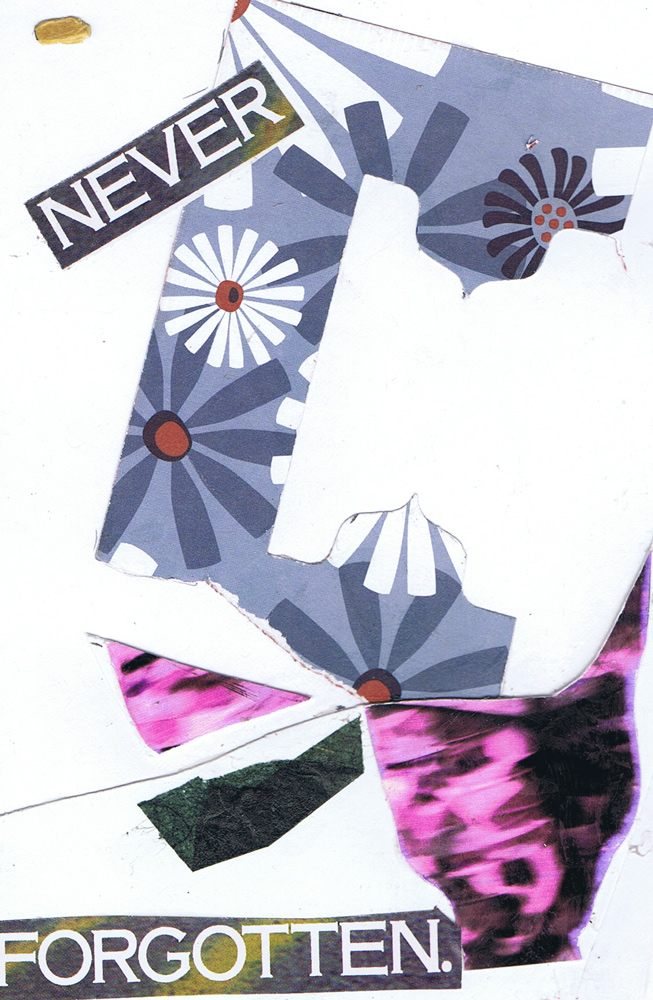 Never Forgotten Collage on Paper 6x4 inches