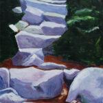 Chimney Pond Trail 49x24 inches Acrylic on Masonite