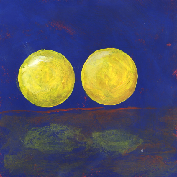Yellow Balls Acrylic on Paper 12x12 inches