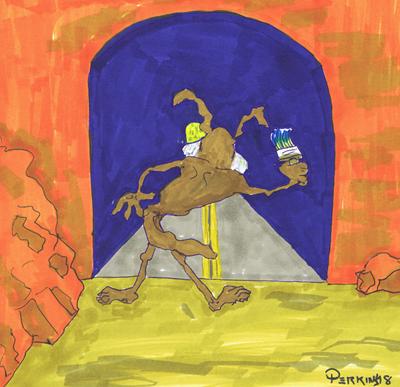 Wile E. Coyote -- Trompe l'oeil master